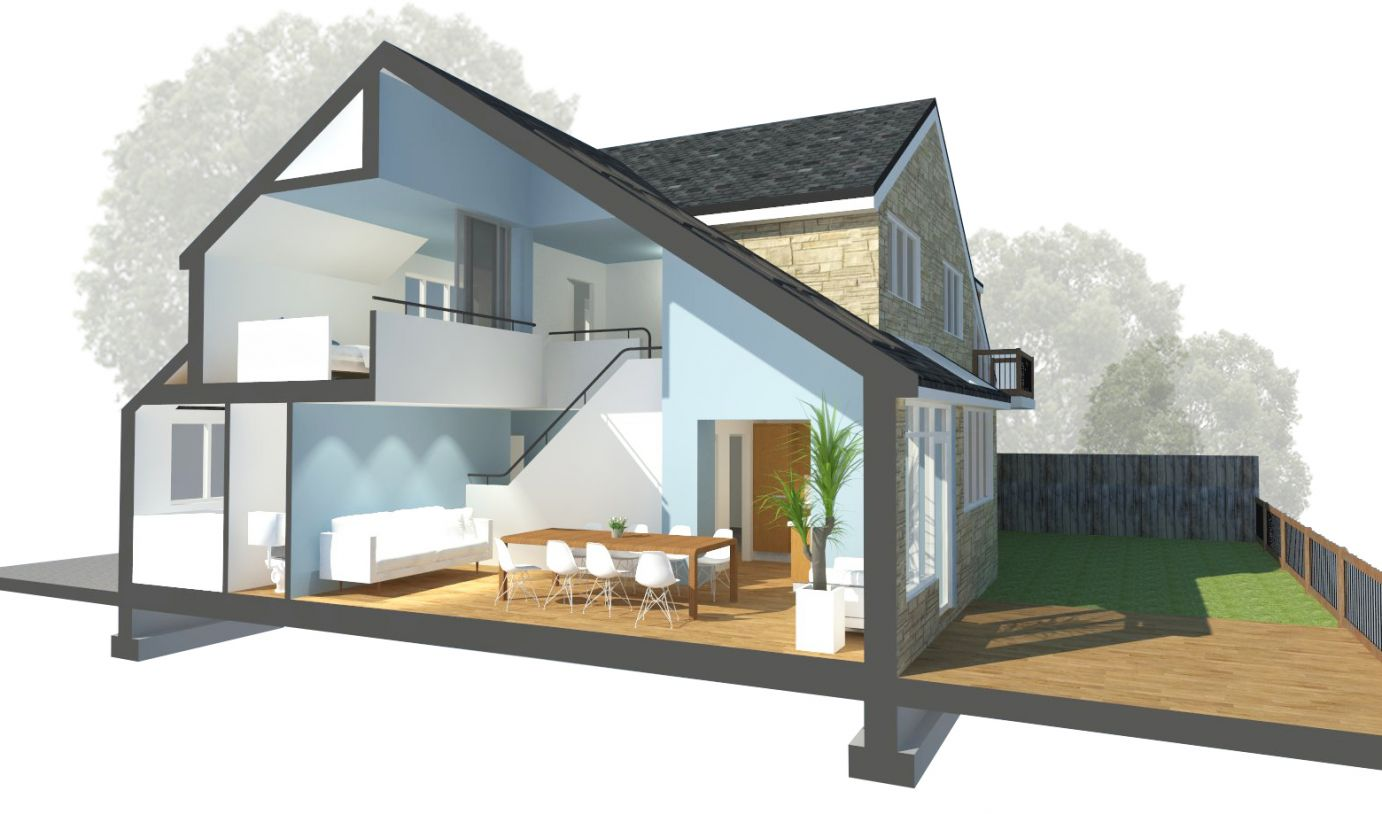 Double Height Extension Ilkley Roost Architects