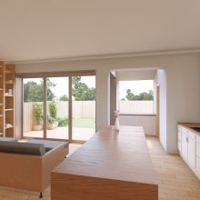 New kitchen design in the modern internal modifications