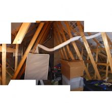 The existing trusses in the roof